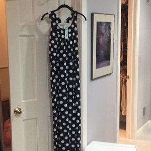 NWT white/navy maxi dress. Size 2X.